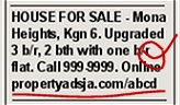 Old newspaper classified ad