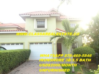 3 bed 3.5 bath Townhouse For Rent in IRONSHORE, St. James, Jamaica