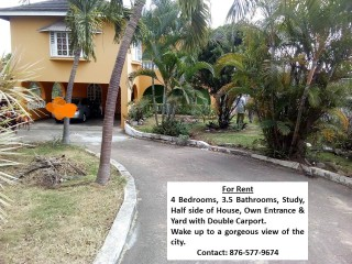 4 bed 3.5 bath House For Rent in Red hills, Kingston / St. Andrew, Jamaica
