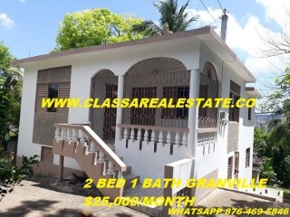 2 bed 1 bath House For Rent in GRANVILLE, St. James, Jamaica